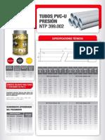 f.t. Tubo Pvcu Presion Ntp 399.002