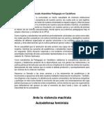 Comunicado Asamblea Pedagogía en Castellano
