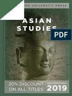 Asian Studies 2019 (Stanford University Press)