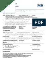 msh- professional resume