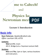 Introduction to Newtonian mechanic CALTECH <3