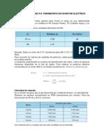 Parametros de un motor electrico