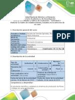 Guía de Actividades y Rubrica de Evaluación -Actividad 2 - Elaborar La Matriz de Establecimiento, Basados en La Selección de Un Caso