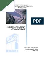 PRESA DE ALMACENIENTO