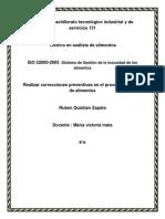 ISO 22000-2005 :Sistema de Gestión de la inocuidad de los alimentos