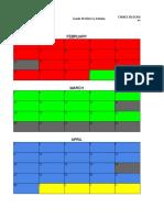 phys ed class schedule - mitch law   alex park