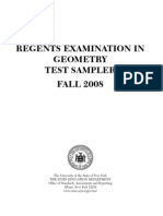 Regents Examination in Geometry Test Sampler Fall
