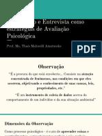Observação e Entrevista Como Estratégias de Avaliação Psicológica
