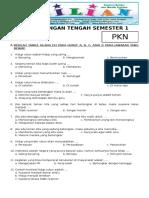 Soal UTS PKN Kelas 2 SD Semester 1 (Ganjil) Dan Kunci Jawaban (Www.bimbelbrilian.com)