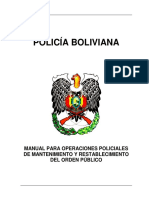 Bolivian Police Manual on Public Order Maintenance