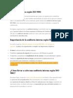 Auditoría Interna Según ISO 9001