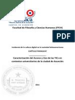 Caracterización del Acceso y Uso de las TICs en contextos universitarios de la ciudad de Asunción
