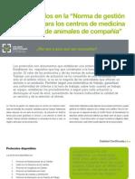AV_28_Los protocolos en la Norma de gestión de calidad para los centros de medicina veterinaria de animales de compañía