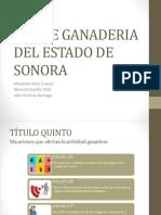 Ley de Ganaderia Del Estado de Sonora