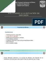 Soluciones Ecuacion de Difusión