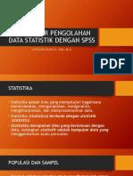 Pengantar Pengolahan Data Statistik Dengan Spss