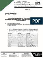 Division Memorandum No. 141 s. 2018