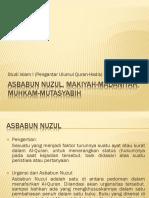 Asbabun Nuzul, Makiyah-madaniyah, Muhkam-mutasyabih