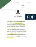 Livy Text Test 1