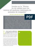 cv_41_Los protocolos en la Norma de gestión de calidad para los centros de medicina veterinaria de animales de compañía
