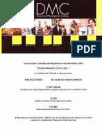 Informe Cultura Reynosa 2008