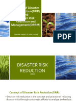 Concept of Disaster Risk ReductionDRR And