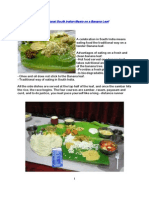 The Food Has to Be Served on a Tender Banana Leaf