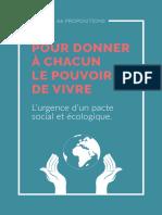 Pacte social et solidaire