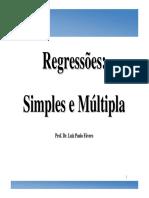 Regressão Simples e Múltipla - análises estatísticas