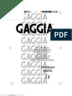 SIEMENS TC55, SAECO Stratos, GAGGIA Syncrony User Manual