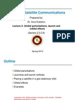 ECE 5233 - Lecture 5 (Orbital Perturbations)
