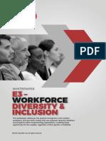E3 – Workforce Diversity & Inclusion