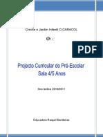 Projecto Curricular Sala A - 2010/2011