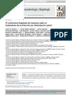 IV Conferencia Espanola de Consenso Sobre El Tratamiento de La Infeccion Por Helicobacter Pylori