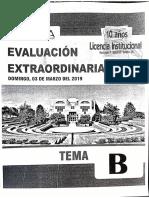 examen extraordinario 2019