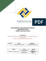 CLM OPER PR 009 Proced Oper Segura Vibrocompactador Rev1
