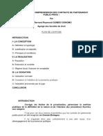 Initiation a La Comprehension Des Contrats de Partenariat Public