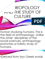 Anthropology and the Study of Culture