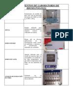 Instrumentos de Laboratorio de Bromatologia