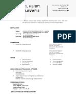 Resume Template EAPP