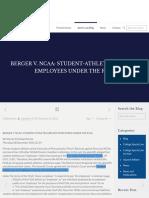 11 BERGER V. NCAA
