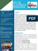 CURSO DE PRÁCTICA CLÍNICA EN T.O PEDIATRIA