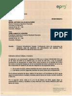Carta de arroceros a EPM