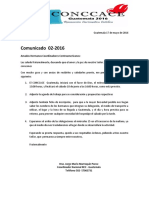 Comunicado 02-2016 Concace