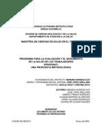 PROGRAMA PARA LA EVALUACIÓN Y EL SEGUIMIENTO  DE LA SALUD DE LOS TRABAJADORES (PROESSAT) UNA PROPUESTA METODOLÓGICA
