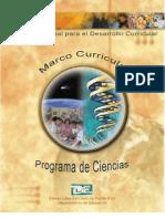 Marco Curricular de Ciencias