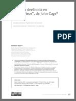 """La escucha declinada en """"Theatre Piece"""", de John Cage"""
