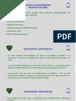 Plantas Concentradoras Región de Atacama