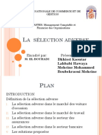 Selection Adverse Ppt Final