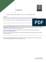The Unreasonable Effectiveness of Mathematics (RW Hamming)